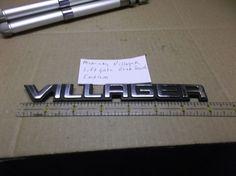 Mercury Villager-LIFTGATE EMBLEM trunk nameplate symbol logo badge oem #MERCURYVILLAGERliftgateemblem