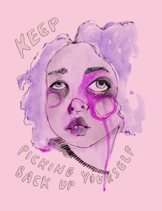 Keep picking yourself back up Art Print