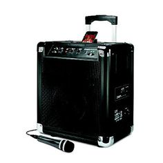 This little gem is amazing! It's Loud, has a 12 hour battery life, a microphone, and an Ipod deck! Perfect for toasts and background music at your outdoor wedding! Only $150 who needs a DJ?!?  Block Rocker AM/FM Sound System for iPod