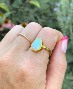 Fiery Labrodite and blue Topaz ring  .925 Silver Boho Chic Handcrafted Unique One of a kind Affordable gf gift most popular ring