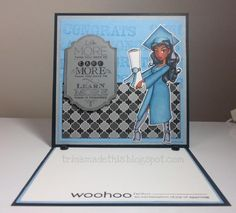 Graduation in Blue by TrinaMakesStuff - Cards and Paper Crafts at Splitcoaststampers