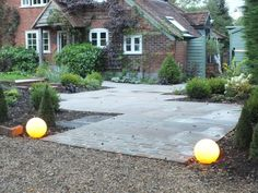 Light up your garden, driveway and paved areas with Stone Globe Lights. Entrance Gates, Grand Entrance, Landscape Design, Garden Design, Entrance Lighting, Garden Globes, Coving, Granite Stone, Globe Lights