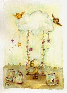 Whimsical Art, Cute Illustration, Cute Art, Painting & Drawing, Decoupage, Art Drawings, Artwork, Poster, Crafts