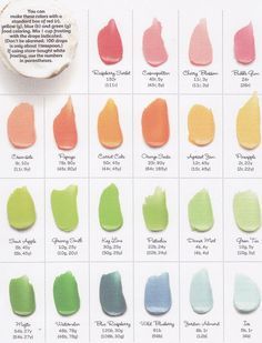 Great Food Coloring Chart - how many drops of what color to get different shades
