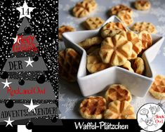 Rock and Owl Blog: # 14: Plätzchen aus dem Waffeleisen ♥ Cookie Desserts, Cookie Recipes, Party Buffet, Pasta, Cakes And More, Cake Cookies, No Bake Cake, Food And Drink, Sweet Tooth