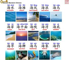 Decode Mandarin Chinese/Learn Better/Vocabulary about sea 海