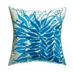Water Medallion Blue Pillow