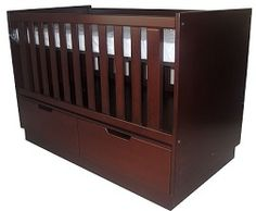 AMY COT - With Underdrawer Unit. Converts into a Toddler Bed