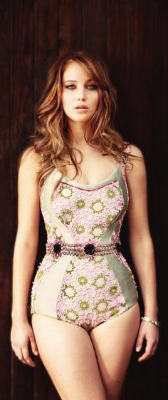 Jennifer Lawrence ♥ The one celeb I can think of that isn't TOO skinny