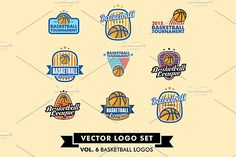 Basketball Vector Logo Set by Urazovsky Design on @creativemarket