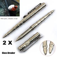 2 PCS Value Pack Originality Stainless Steel Self Defence Outdoor Tactical Pen Glass Breaker >>> This is an Amazon Affiliate link. Learn more by visiting the image link.