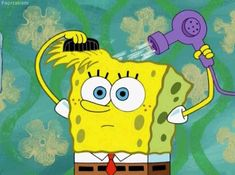 The perfect Spongebob Hair Comb Animated GIF for your conversation. Discover and Share the best GIFs on Tenor. Spongebob Memes, Cartoon Memes, Spongebob Squarepants, Cartoons, Cartoon Icons, No Poo Hair, Reaction Pictures, Funny Pictures, Hair Gif