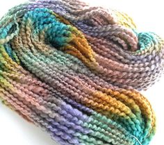 Handspun Yarn Soft BFL Wool Silk Yarn Hand Dyed Yarn Bulky