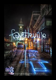 """""""FAYETTEVILLE""""  HDR Light Painting Photography by   Chris Look & The Graffiti Light Project  www.graffitilight.com"""