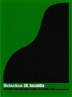 San Sebastian's Jazz Festival poster 2003