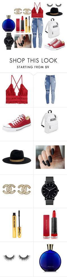 """Lucy"" by afia-asamoah ❤ liked on Polyvore featuring Converse, Janessa Leone, Chanel, Nasty Gal, Max Factor, bralette, coolness, ish and sexylook"