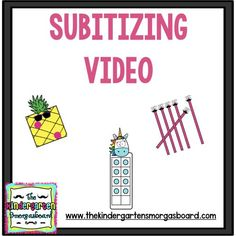 This free YouTube video using music and representations of numbers for students to practice subitizing. Great for subitizing or number fluency. Click for the free video.