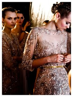 Ellie Saab - beautiful beaded evening dresses would make an excellent inspiration for a wedding dress