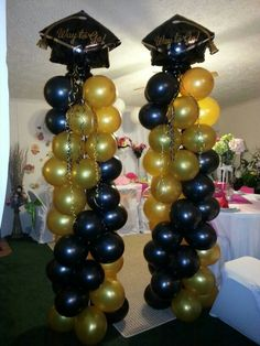 Luftballons - Decoration For Home Outdoor Graduation Parties, Graduation Crafts, Graduation Party Planning, Graduation Party Favors, College Graduation Parties, Graduation Balloons, Graduation Celebration, Grad Parties, Craft Ideas