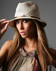a9744138948 Wide brimmed straw fedora fashion hat for women