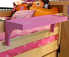 ★ Buy the Bunk Bed Shelf in a variety of vibrant finishes at Kids Furniture Warehouse ★ The Bunk Bed Shelf is the perfect bedside accessory for bunk beds and lofts.