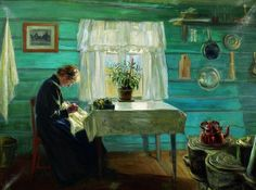 Kitchen Interior, 1893 by Gustav Wentzel on Curiator, the world's biggest collaborative art collection. Edvard Munch, Lund, Scandinavian Paintings, Art Nouveau, Nordic Lights, Victorian Life, Room Of One's Own, Digital Museum, Ludwig