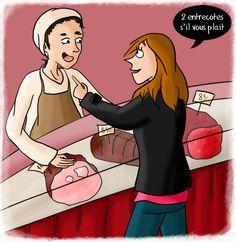 A la boucherie pour la saint valentin