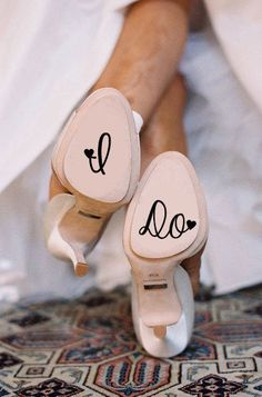Matrimonial Shoe Decals - These I Do Shoe Decals Lets Everyone Know You're Recently Married