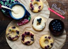 Blueberry+Doughnuts+with+Lemon+and+Cream+Cheese+Glaze