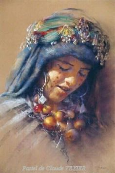 I adore this woman's art. She is an amazing pastel artist. Claude Texier.
