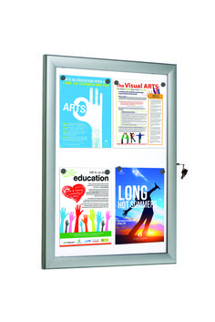 Universal Showboard. An ultra slim and lockable poster case.