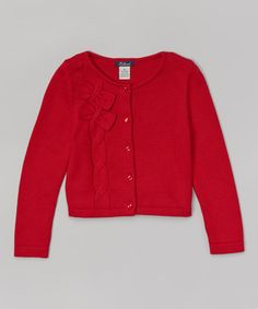 Loving this Red Cable Cardigan - Toddler & Girls on #zulily! #zulilyfinds