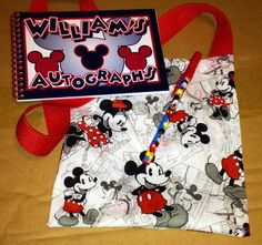 Personalized Disney Autograph Book Mickey & Minnie Mouse w/ Matching Bag & Pen in Collectibles, Disneyana, Contemporary (1968-Now)   eBay