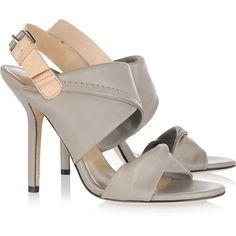 Diane von Furstenberg Sinead two-tone leather sandals (£143) found on Polyvore