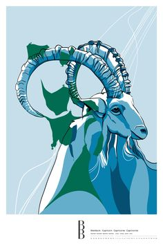 Sternzeichen Steinbock / Zodiac sign Capricorn Moose Art, Poster, Illustration, Animals, Astrology, Stars, Abstract, Zodiac Signs Capricorn, Animales