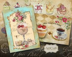 SWEET DREAM  Digital Collage Sheet Gift Tags Printable by ArtCult, $4.90