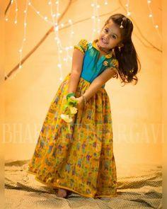 Long Frocks For Girls, Dresses Kids Girl, Kids Outfits, Baby Dresses, Kids Dress Wear, Kids Wear, Kids Gown, Kids Blouse Designs, Dress Designs