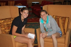 Two No. 13s: Alex Morgan, Kristine Lilly, May 2010. (The WNT Blog, U.S. Soccer)