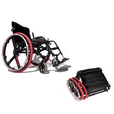 Foldable Wheelchair Wheels  are you kidding me! I could fit 4 in a hockey bag :)