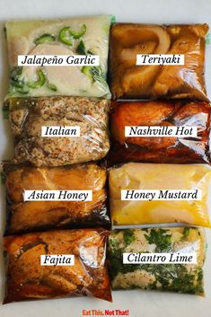 8 Chicken Marinade Ideas for Juicy Chicken Breast Bored of making the same chicken recipe over and over again? Try one of these 8 delicious chicken marinade ideas for a perfectly juicy chicken breast. Grilling Recipes, Cooking Recipes, Healthy Recipes, Best Bbq Recipes, Grilling Ideas, Healthy Meal Prep, Marinated Chicken Recipes, Marinade Chicken, Healthy Marinade For Chicken