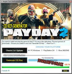 PAYDAY 2 CD Key Generator 2016