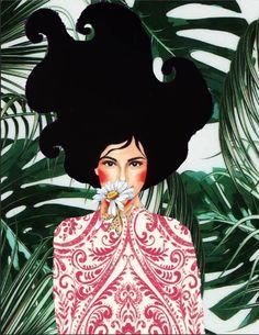 Foto Gif, Arte Country, Madhubani Painting, Art For Art Sake, Whimsical Art, Matisse, Portrait Art, Oeuvre D'art, Female Art