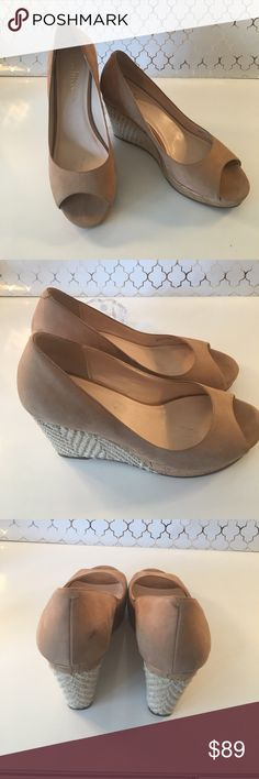 ⭐️COLE HAAN WOMENS WEDGES AUTHENTIC COLE HAAN WOMENS WEDGES 100% AUTHENTIC. SO PRETTY AND STYLISH. TRUE HIGH END STYLE AND FASHION. THEY ARE LIGHTER THAN THEY APPEAR IN PICTURES. THEY ARE TAN. THEY ARE A SIZE 6 B Cole Haan Shoes Wedges