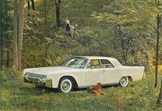 Lincoln Continental advertisement (1961).....who takes a lincoln into the woods? bitches in the 60s