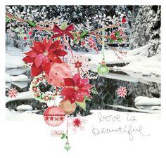 """Joyeux Noel"" by vintagecocobythelake ❤ liked on Polyvore featuring art"