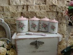 Dollhouse Miniature Shabby Chic Set of 4 by IttyBittyAndCute