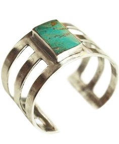 Pamela Love Silver Turquoise Inlay Cuff