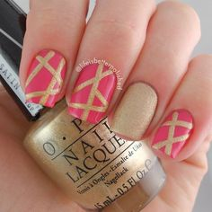pink and gold polish by lifeisbetterpolished