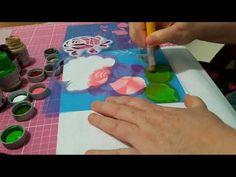 Rosas com Stencil Litoarte - YouTube