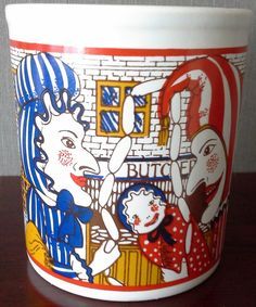 punch and judy mug by LondonUrbanMagpie on Etsy
